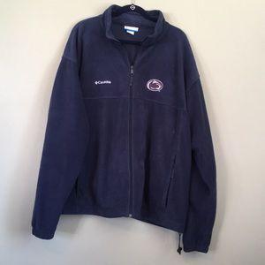 Columbia size XXL Penn State embroidered fleece.